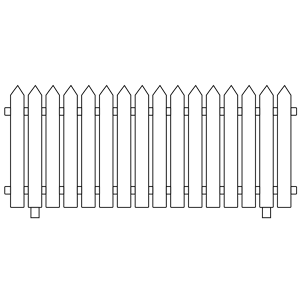 Picket Fence Clipart.