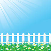 Clip Art Picket Fence Gate, Picket Fence Free Clipart.