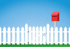 White Picket Fence Clipart.