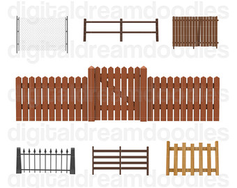 Picket Fence Gate Clipart Clipground