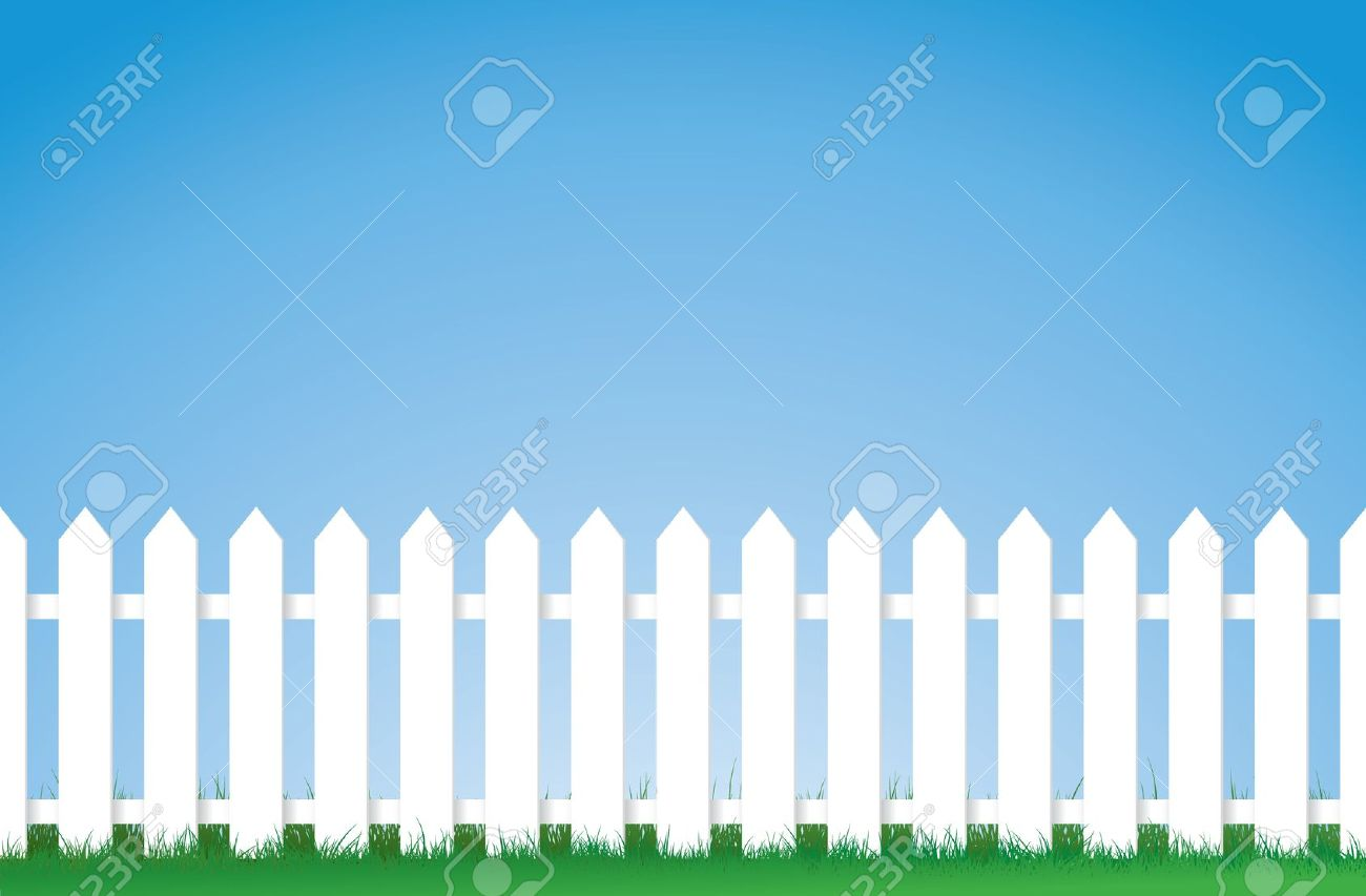 Free Clipart Picket Fence With Gate On Country Road.