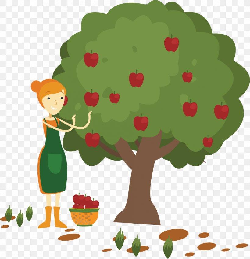 Apple Fruit Picking Clip Art, PNG, 954x986px, Apple, Art.