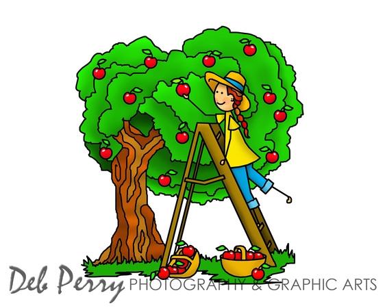 Picking Fruit Clip Art.