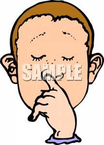 Boy Picking His Nose.