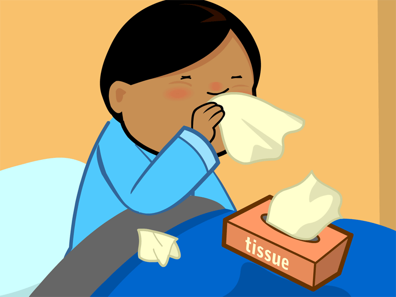Blocked Nose Clipart.