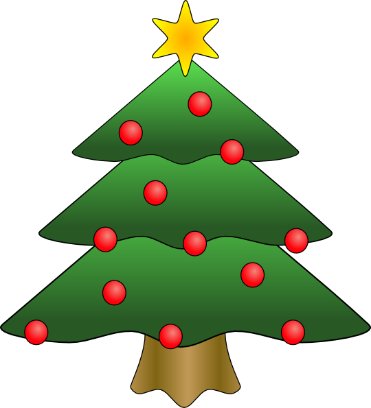 Christmas Tree in Snow clipart, photo, images, and cartoon.