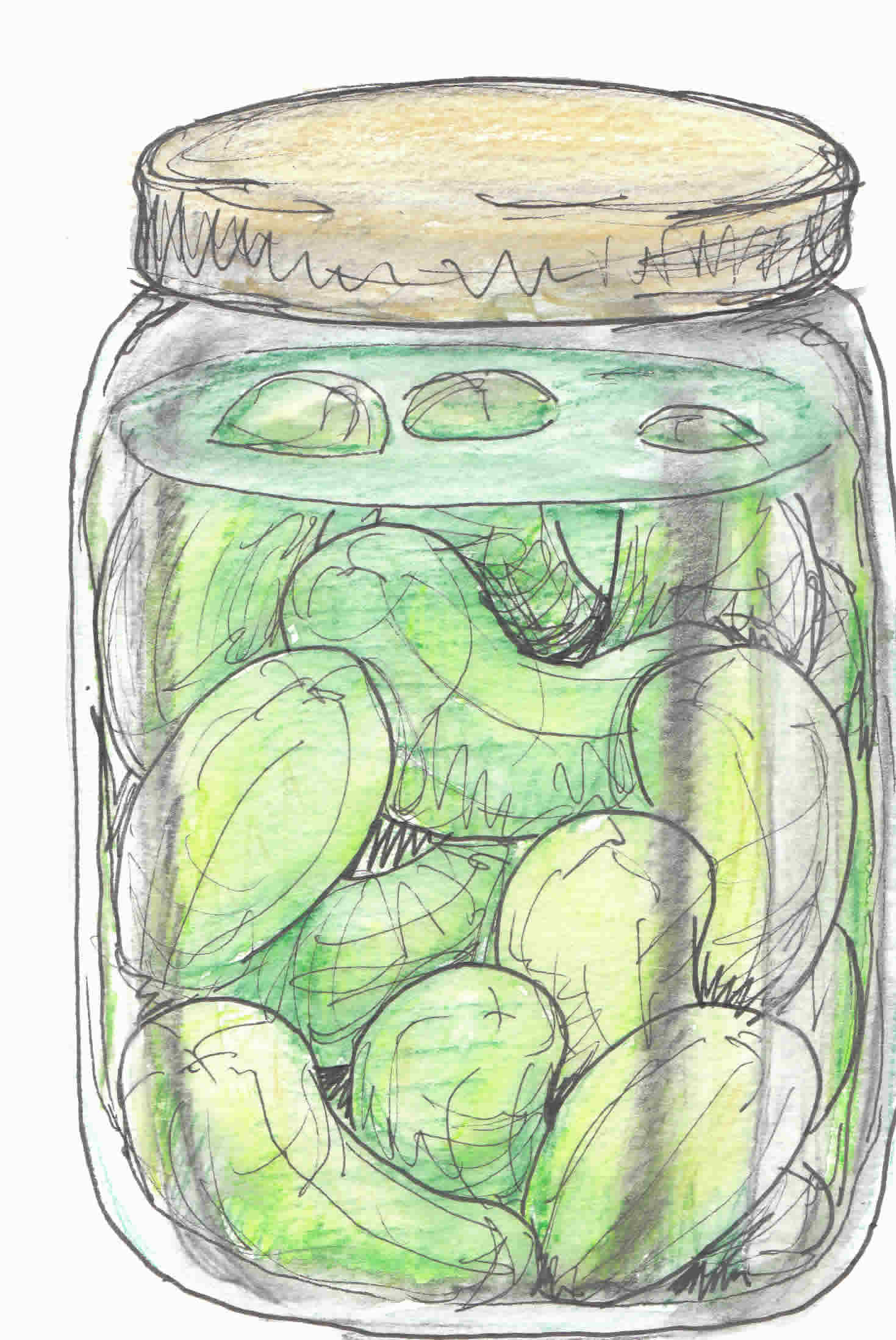 Pickle Jar Clipart.