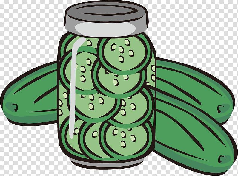 Pickled cucumber Pickling Jar , Cucumber cucumber slices.