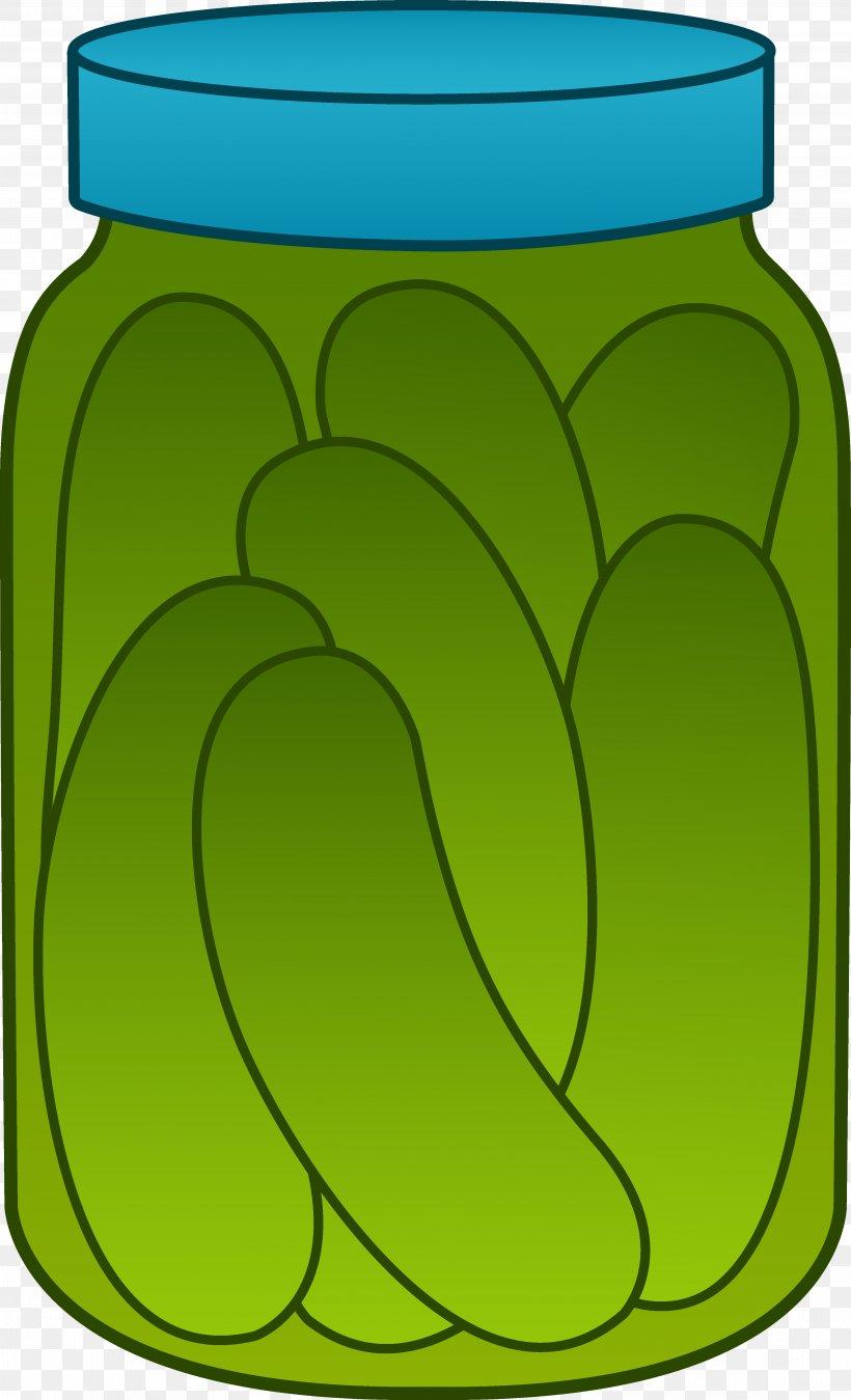 Pickled Cucumber Pickling Jar Clip Art, PNG, 3747x6165px.