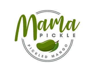 Mama Pickle logo design.