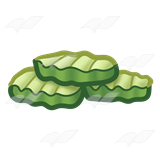 Pickle slice clipart.