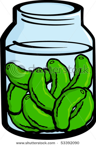 Pickles In a Pickle Jar.