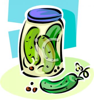 Jar of Kosher Pickles.