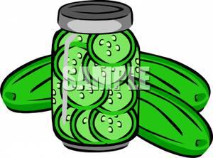 Pickle clip art.