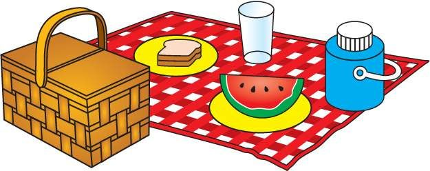 Summer picnic outdoors clip art free vector in open office.