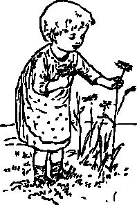 Picking Flowers Clip Art.