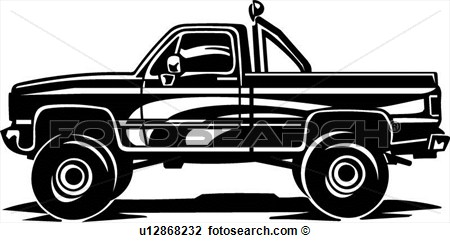 Old Pickup Truck Clipart.