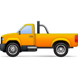 Yellow Pickup Truck Icon, PNG ClipArt Image.