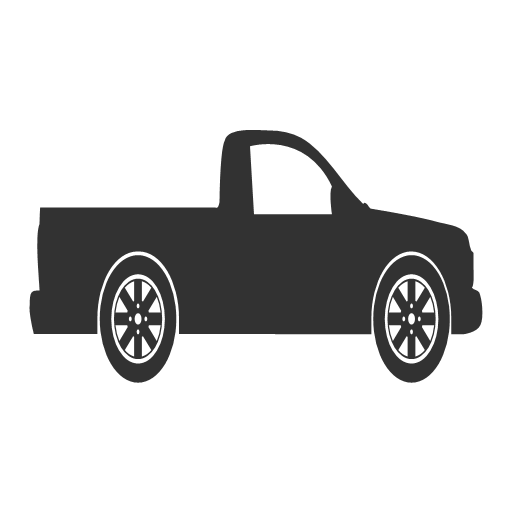 automobile car pickup truck vehicle icon.