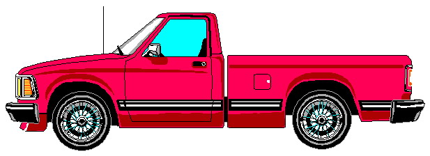 Red pickup truck clipart.