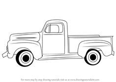 Pickup truck clipart black and white » Clipart Portal.