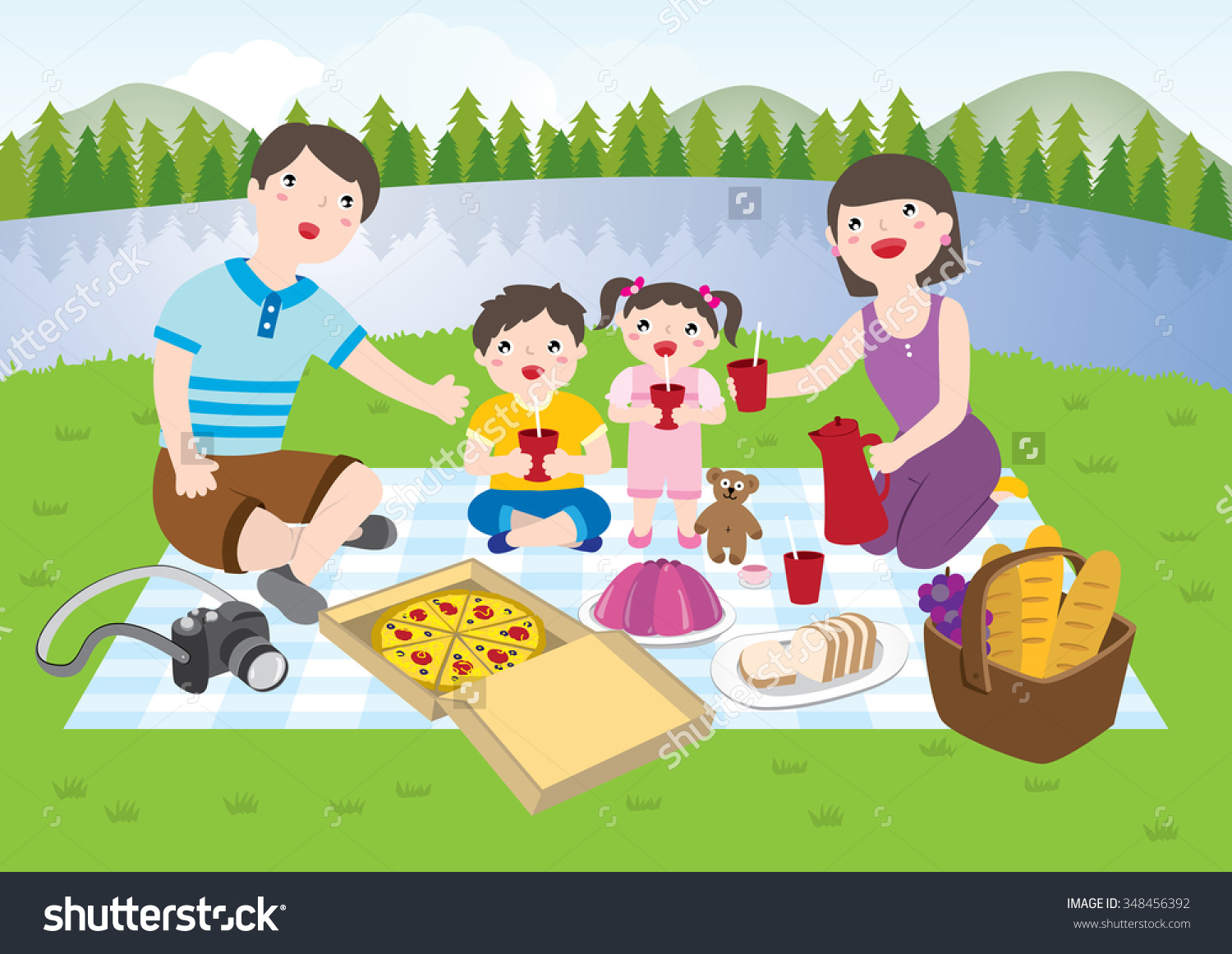 picnic at park table clipart - Clipground