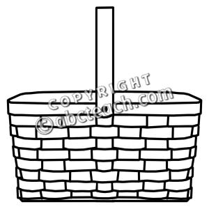 Picnic Basket Clip Art Black And White.