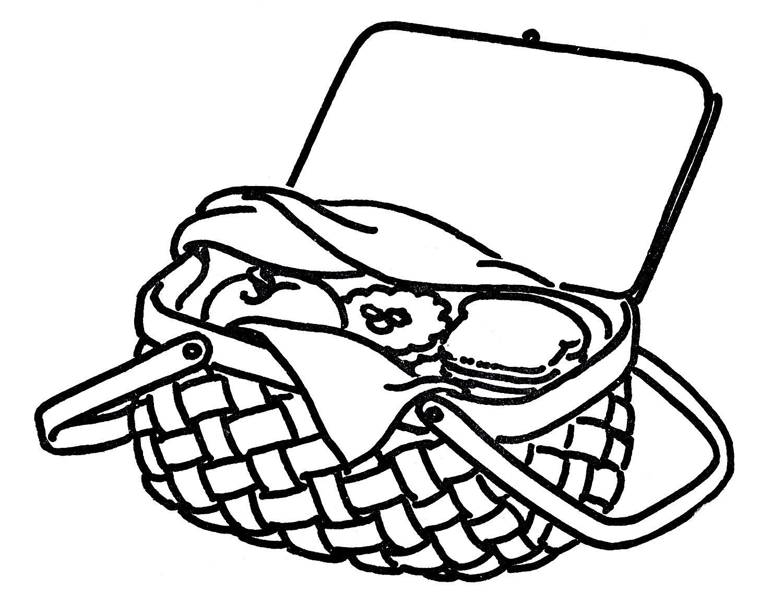 Picnic Basket Drawing at PaintingValley.com.