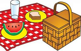 Free Picnic Basket Clipart.