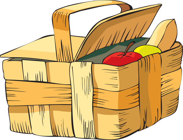 Picnic Basket Clip Art & Picnic Basket Clip Art Clip Art Images.