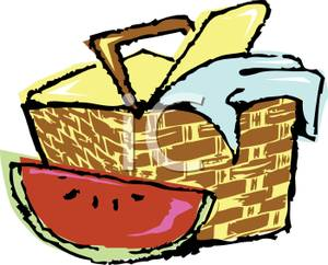 Family Picnic Clipart.