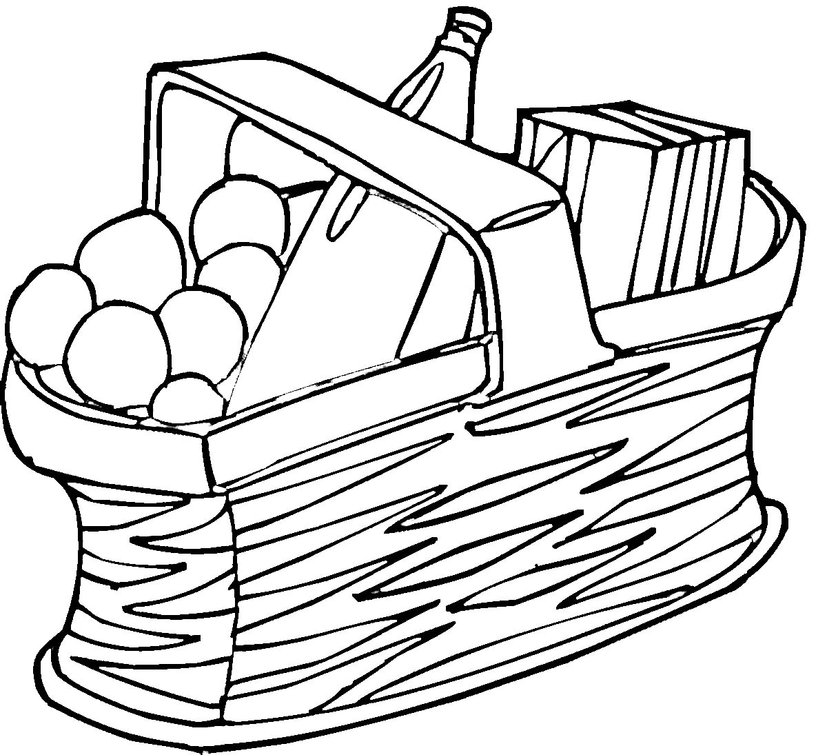 Picnic Clip Art Black And White.