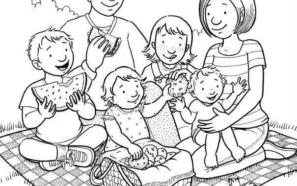 Lds family clipart black and white 2 » Clipart Station.