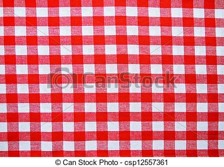 Red picnic cloth.