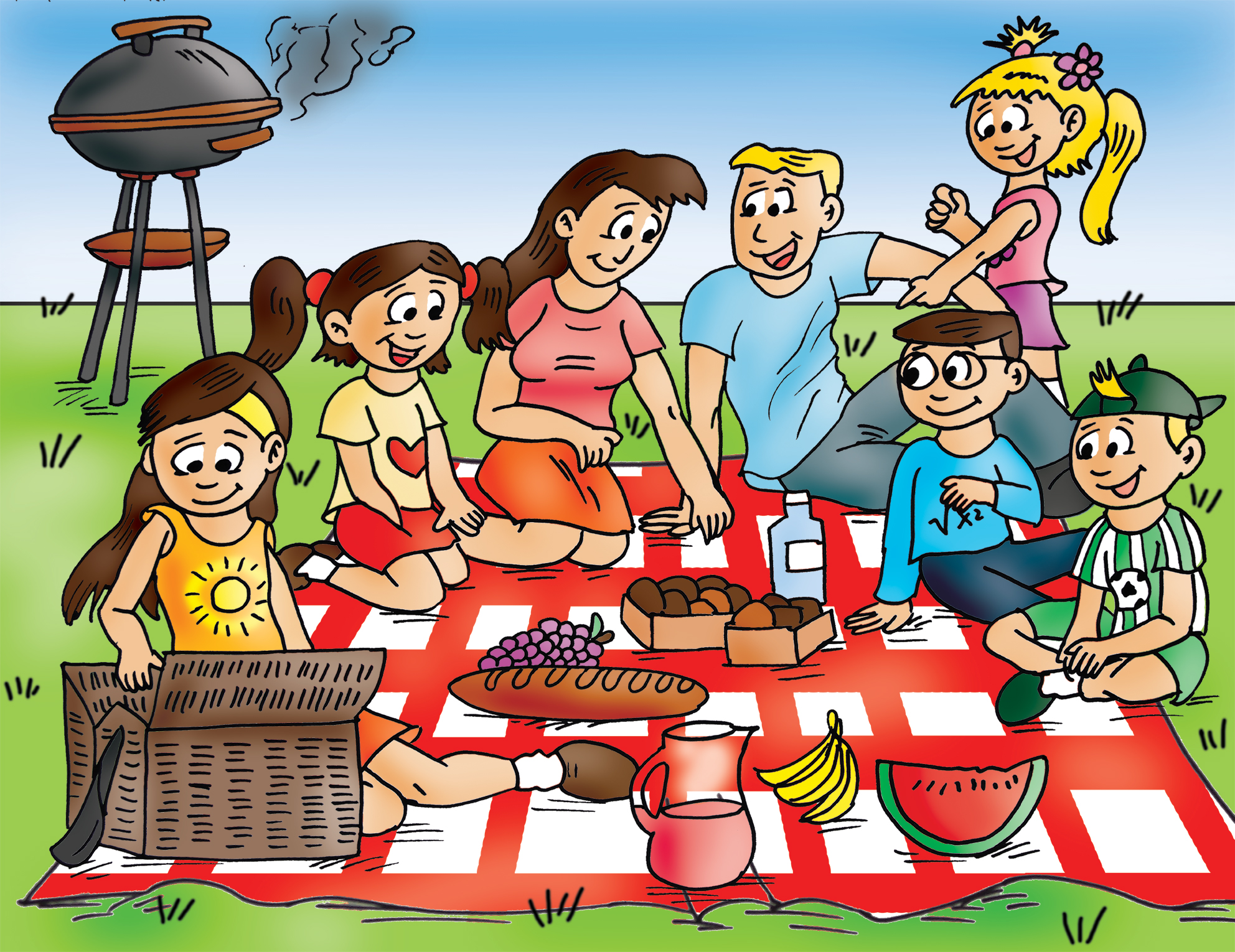 Family Picnic Clipart Group with 55+ items.