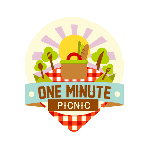 logo for one minute picnic.