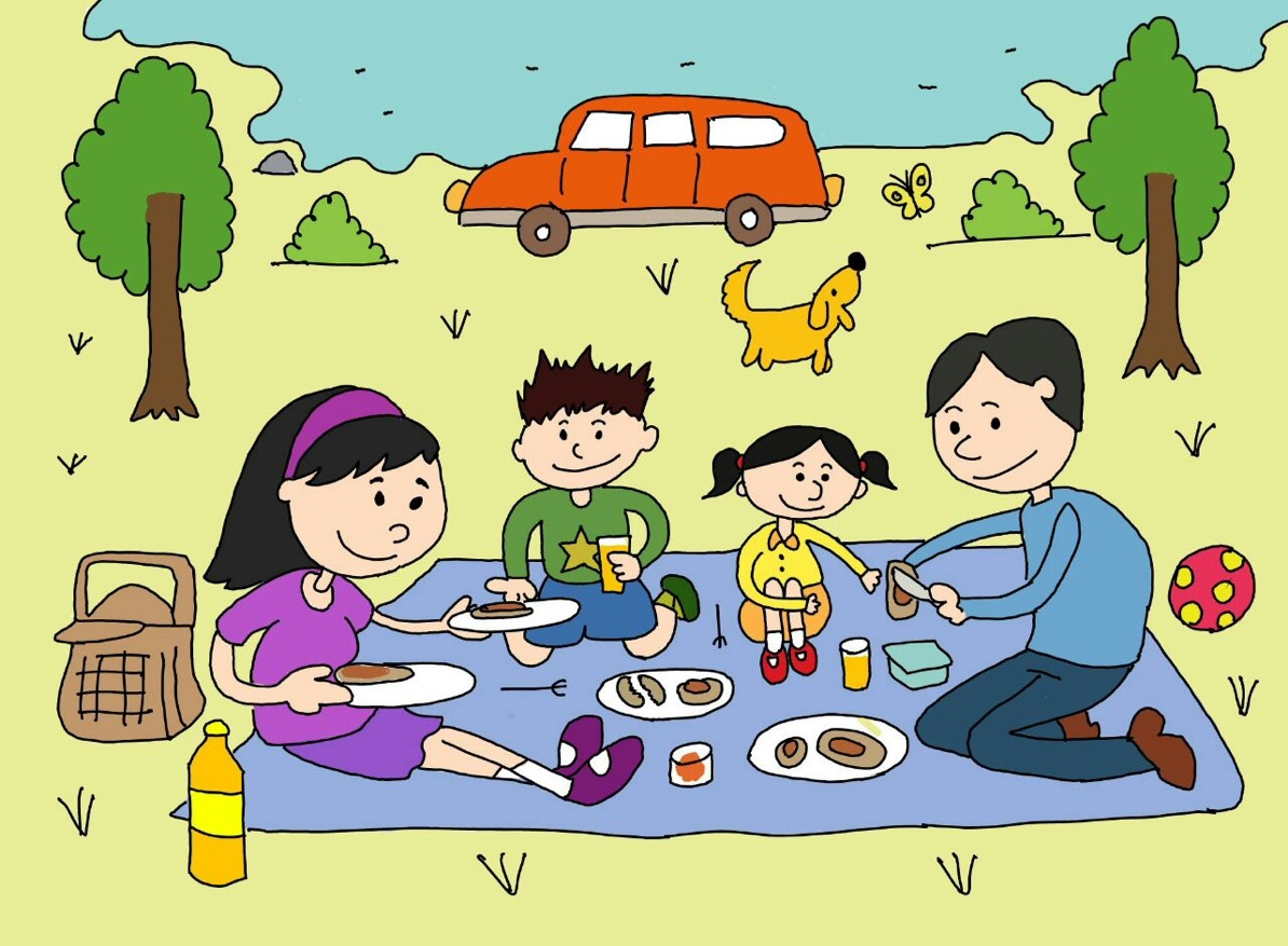 Family Picnic Drawing at GetDrawings.com.