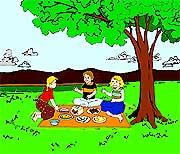 Daylight picnic on 4th of July.