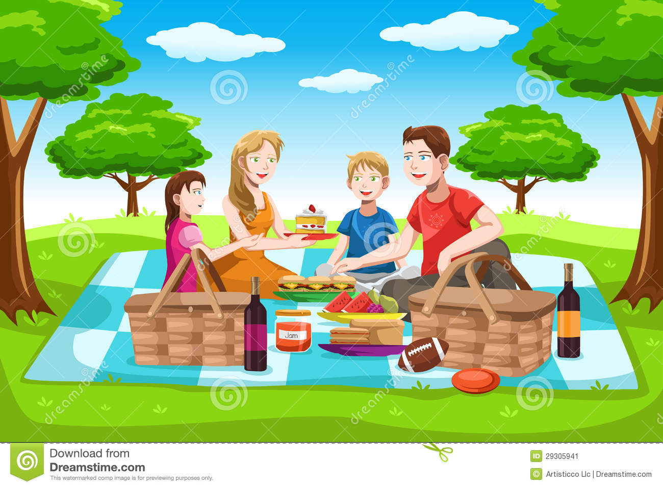 Clipart Family Picnic.