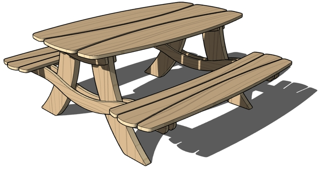 Picnic table clipart 4.