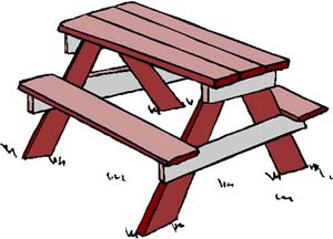 Picnic table clip art free clipart images 2 4.