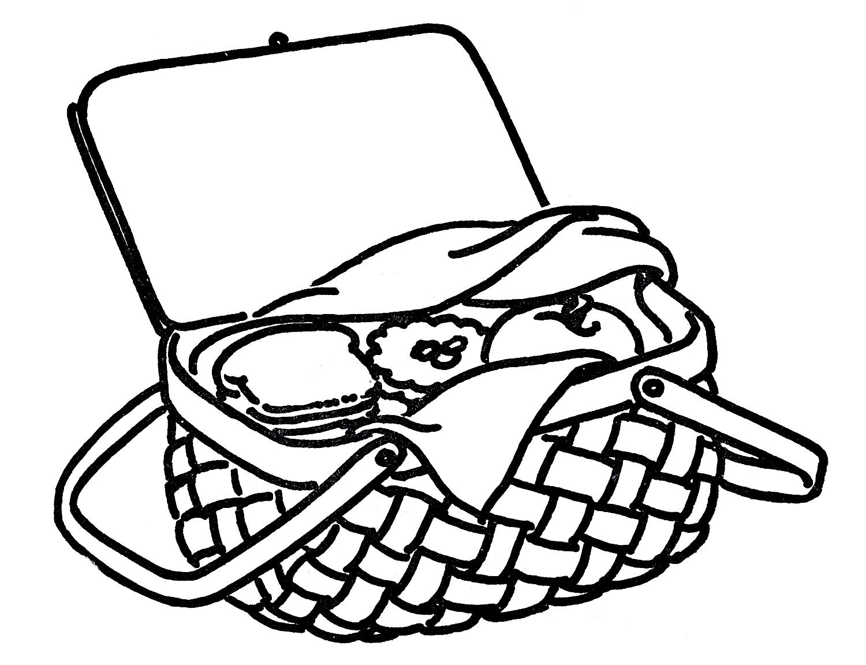 Picnic table clip art clipart black and white.