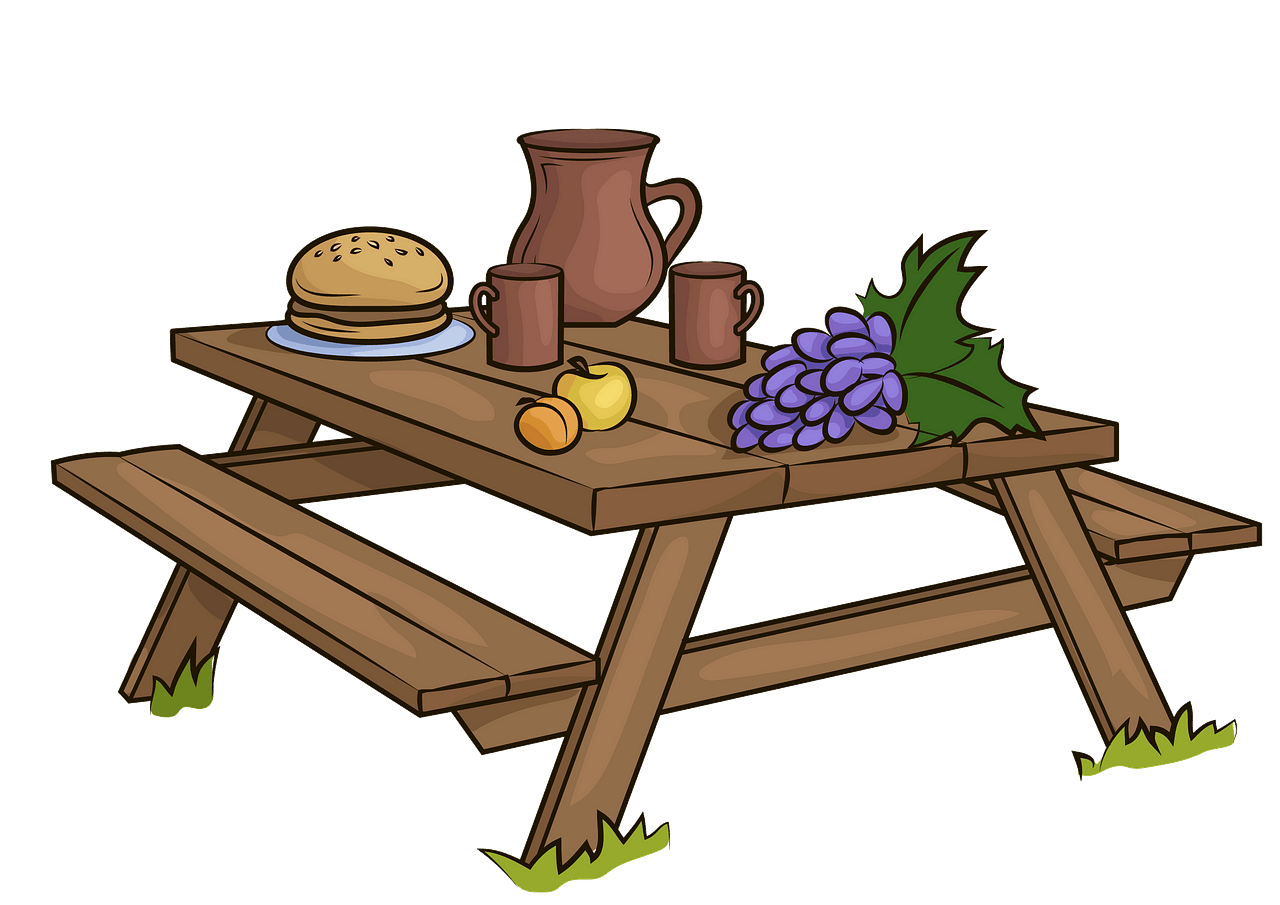Picnic table clipart. Free download..