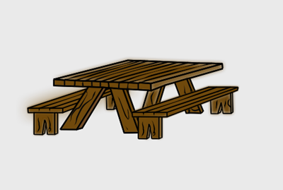 Picnic table clipart free 3 » Clipart Station.