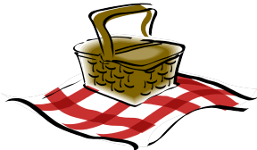 Picnic Table With Food Clipart Transparent Background.