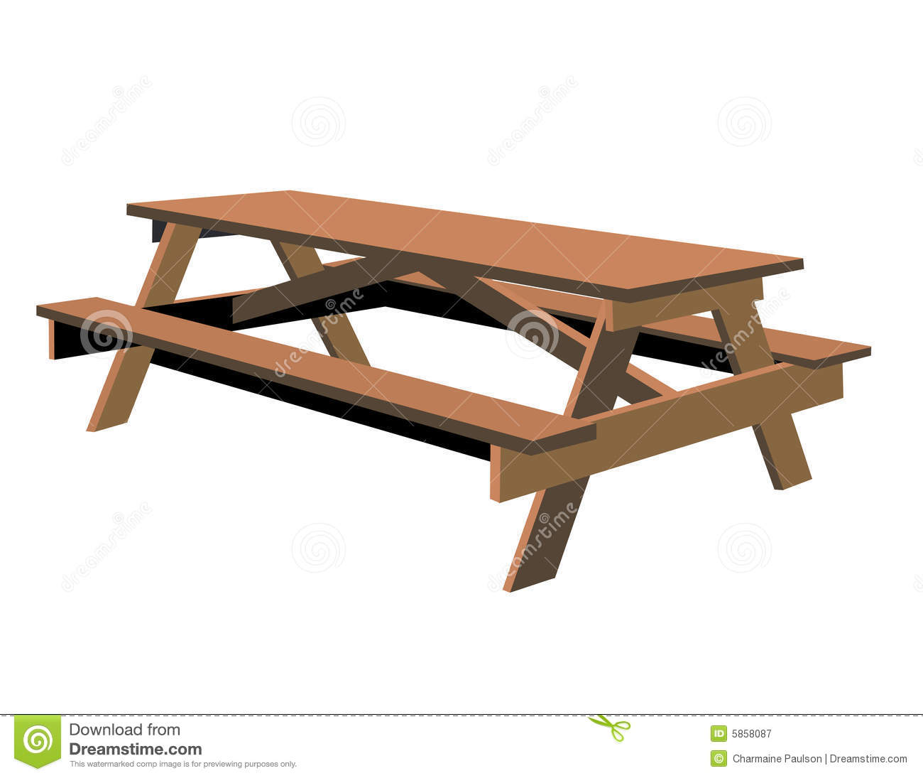 Picnic Table Clipart Transparent Background.