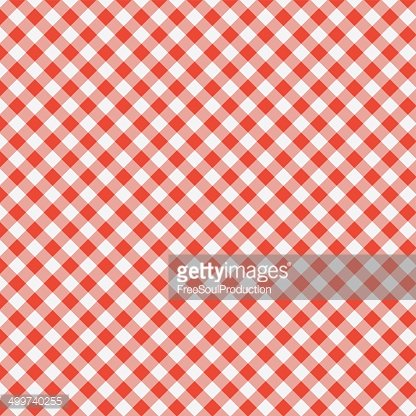 vector pattern of picnic tablecloth Clipart Image.