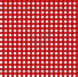 Pattern picnic tablecloth.