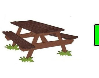 Picnic Table Clip Art, Picnic Table Free Clipart.