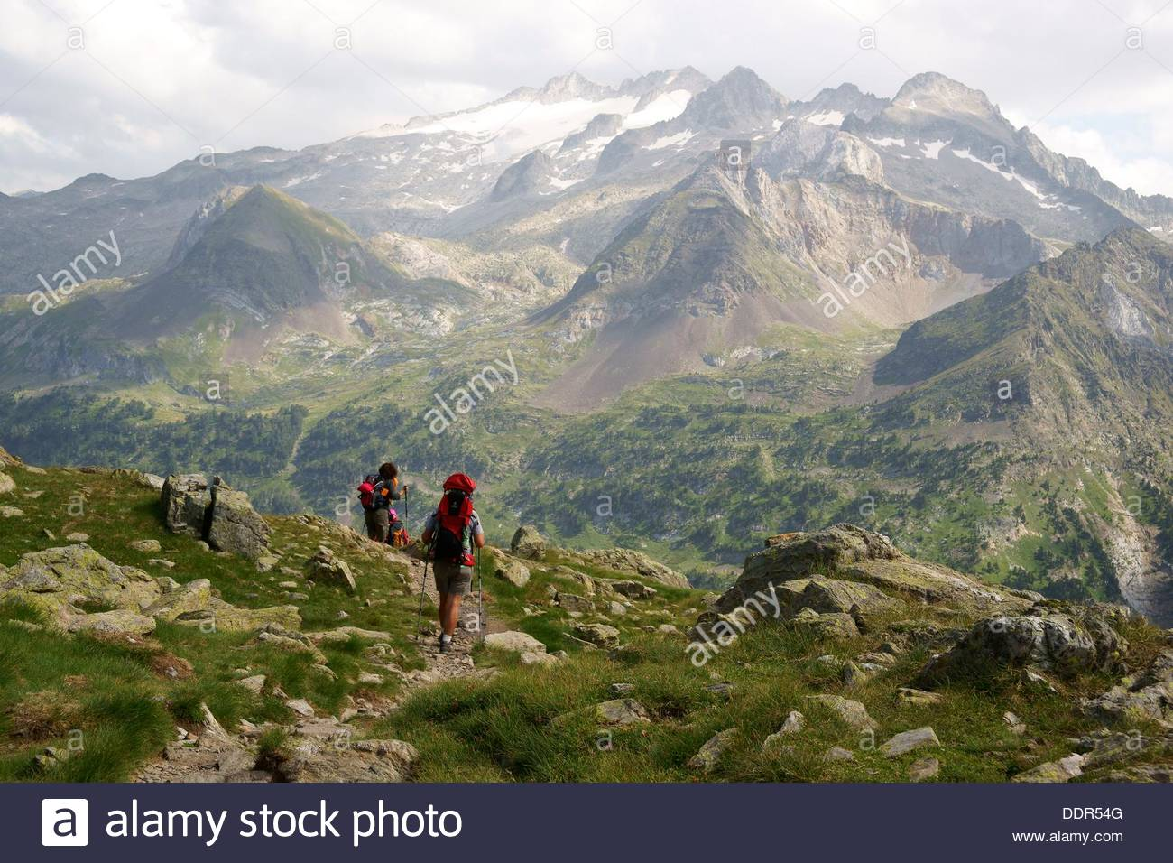 Pico Aneto 3404m, From Ibon Of Gorgutes, Huesca Pyrenees Aragon.